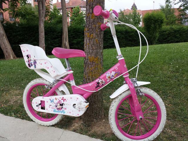 Bicicleta minnie rosa