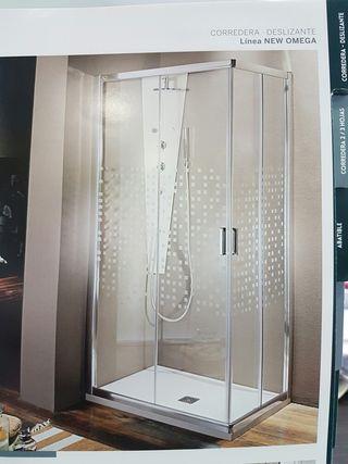 mampara de baño para cuadro de ducha