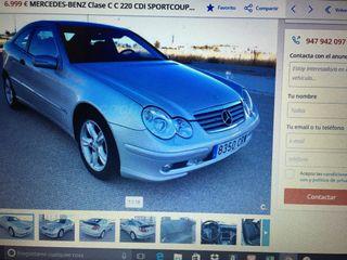 Mercedes c220cdi Sport coupe 195000km 2004 gris