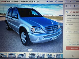 Mercedes ml320 auto gasolina 239000km 2002 gris
