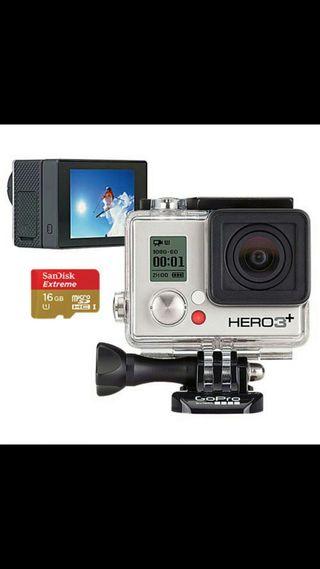 gopro hero 3+ con pantalla LCD y control remoto+ b