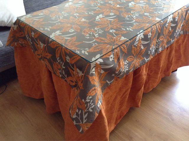 Ropa de mesa camilla naranja de segunda mano por 100 en - Ropa de mesa camilla ...