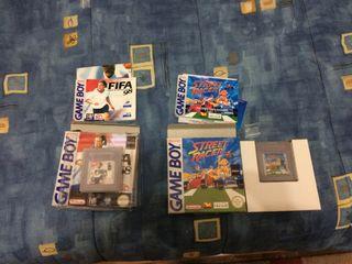 Juegos game boy FIFA 98 y street race con manual