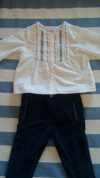 Conjunto pantalón y camisa 12/18meses