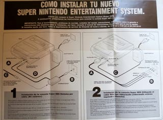 Manual Poster Super Nintendo