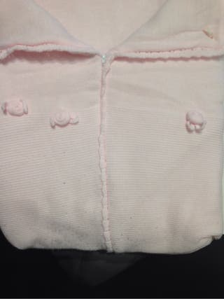 Saco bebe lana rosa