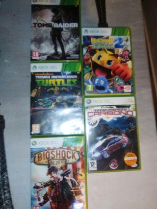 Lote juegos consola xbox