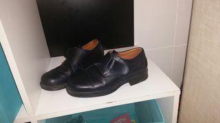 Zapato colegial piel talla 38 negro