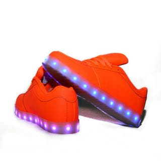 Zapatillas led naranja fosfóritas con luces 24h