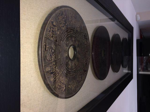 Cuadro de discos de terracota