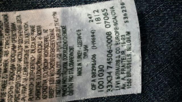 PANTALON LEVIS 509 TALLA 33 LARGO 34