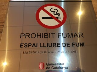 Placa informativa - Prohibit Fumar -