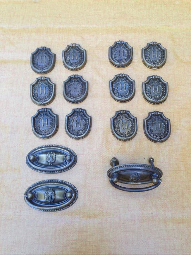Tiradores (15) bronce Viuda de Hurtado