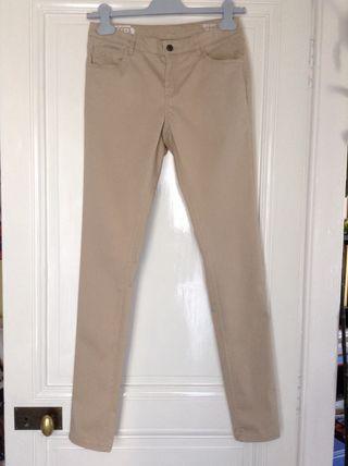 Pantalon skinny beige Monoprix Kids 14 ans taille