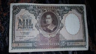Billete de mil pesetas Murillo del 1940