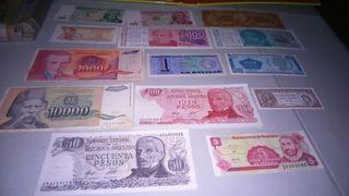 Billetes del mundo.