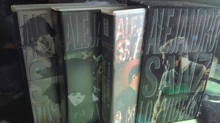 Tres videos VHS de Alejandro Sanz originalrs