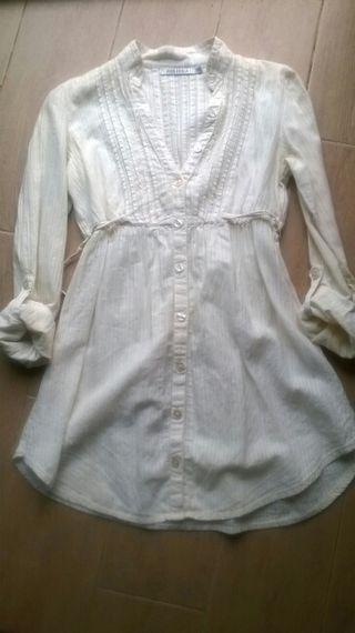 Blusón color crema