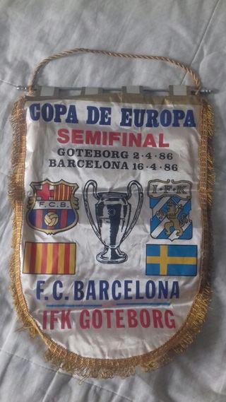 Banderín semifinal copa europa año 1986