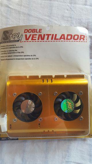 Ventilador doble CPU