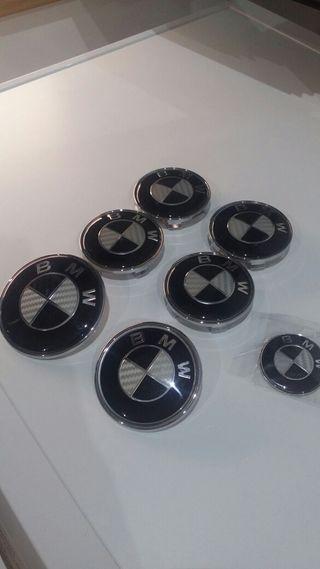 PACK EMBLEMAS BMW CARBONO NEGRO