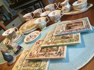 Colección de porcelana 4estaciones