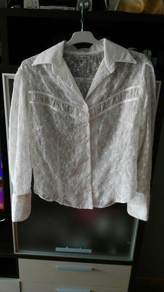 Camisa seda transparente