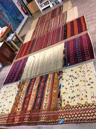 Alfombra kilim bordado persa original étnico
