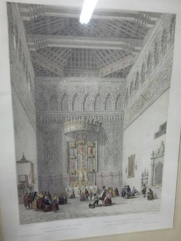 Litografia Sinagoga Mayor de Toledo