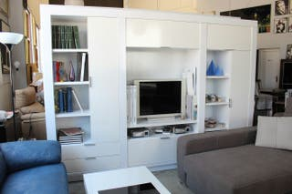 Salon completo nuevo laca blanca