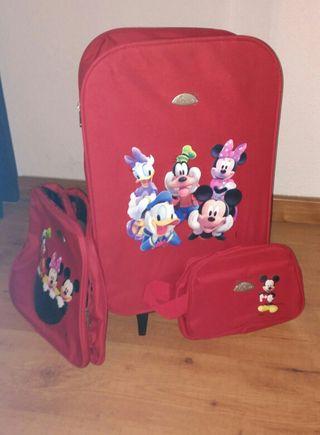 Juego de maleta Troley Mickey