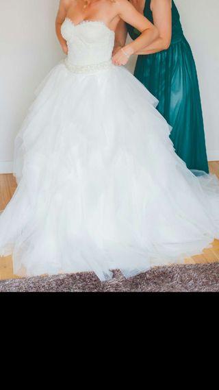 Vestido de novia blanco talla/36/38(Pronovia)..