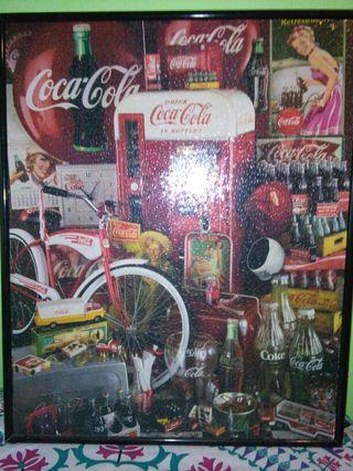 Cuadro puzle retro CocaCola