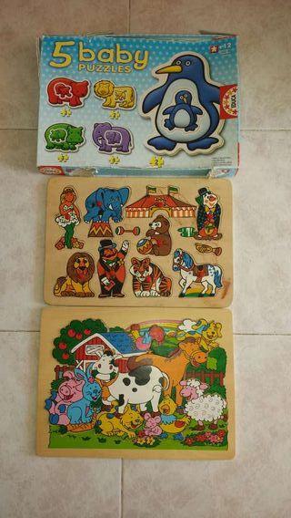 Lote 3 puzzles para niños pequeños
