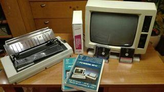 Amstrad PCW 8256 con impresora