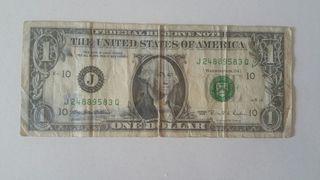 Billete George Washinton $1 Dollar 1995