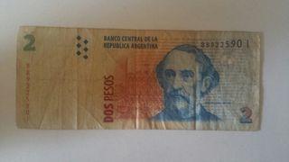 Dos Pesos Republica De Argentina