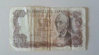 Billete De España 100 pesetas 1970