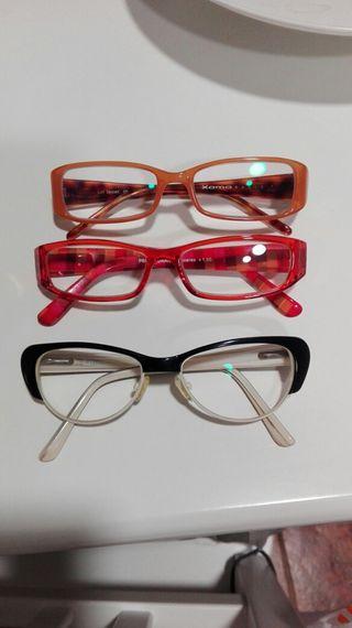 Tres pares d gafas ,graduadas