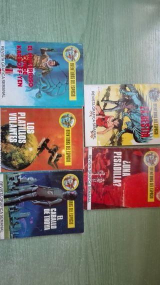 Lote de 5 novelas graficas del espacio