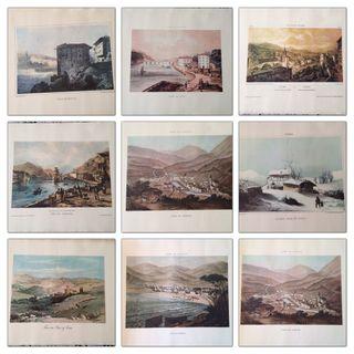 láminas -ilustraciones de paisajes del pais vasco