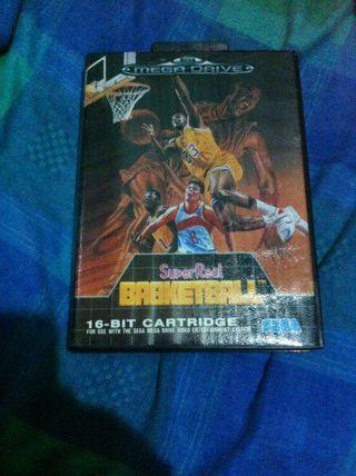 Super Real Basketball Sega Megadrivr