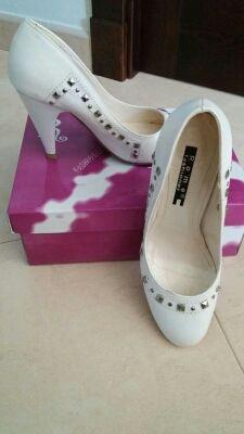 Zapato blanco mujer tacón