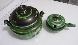 Sopera y salsera de cerámica San Claudio-Valdemora
