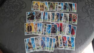 Lote cromos topps force attax star wars