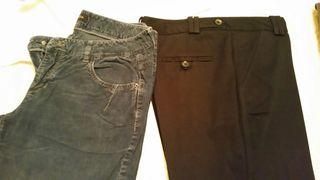 Pantalones negro y azul