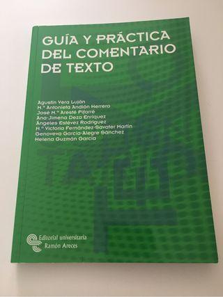 UNED.Guía y práctica del comentario de texto