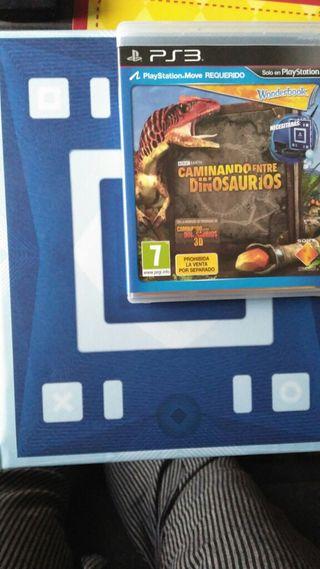 Wonderbook + caminando entre dinosaurios + cámara