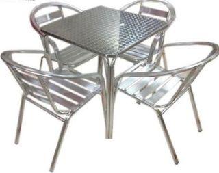 Mesas y sillas de aluminio