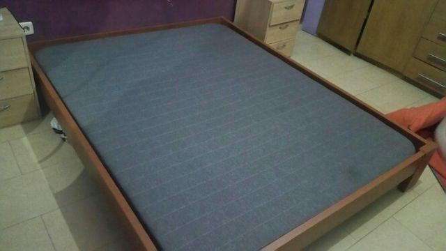 Estructura cama 150 más base tapizada